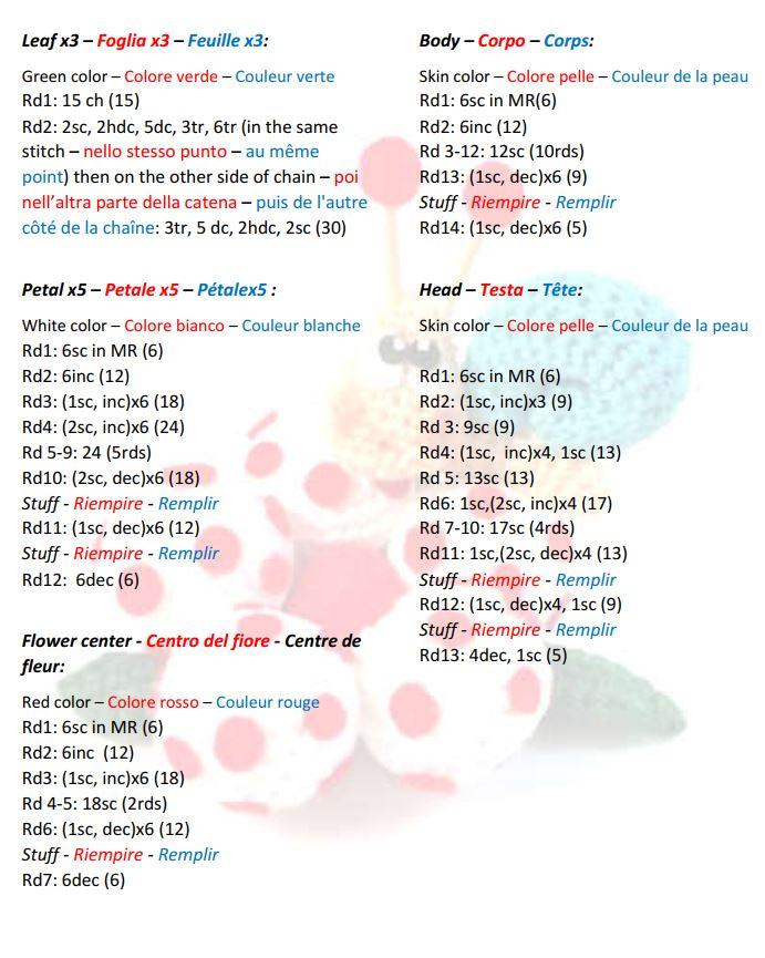 lumaca antenne a cuore amigurumi schema gratis crochet tutorial ... | 865x691