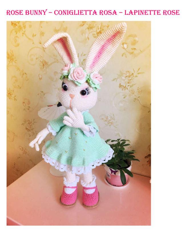 Doudou lapin au crochet rose| amigurumi lapin rose| cadeau bébé fille et  garçon | cadeau de naissance - Un grand marché | 865x638