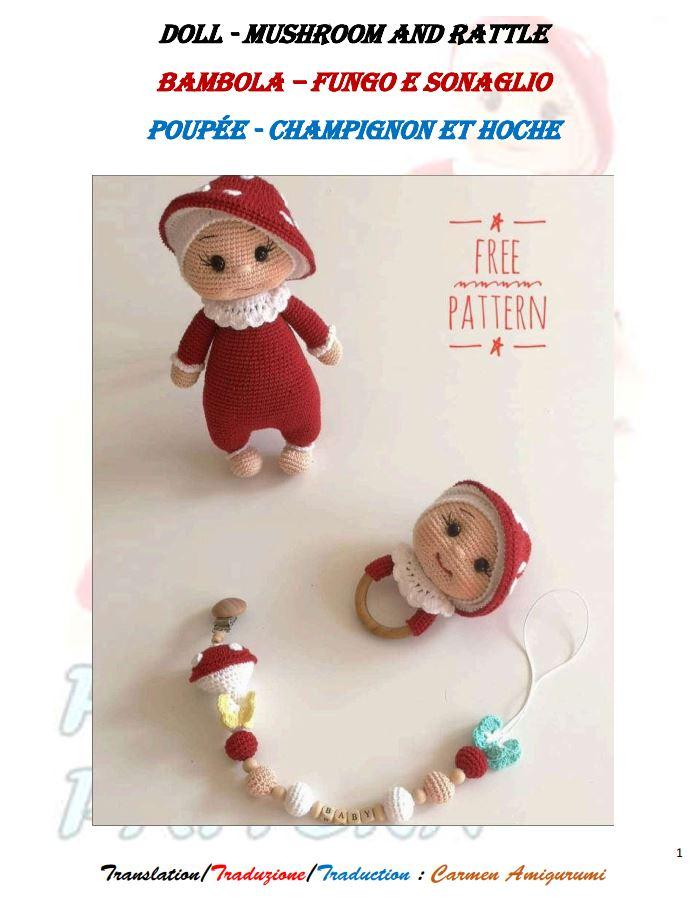 CICI – mushroom doll crochet pattern – Carmen Crochet | 915x698