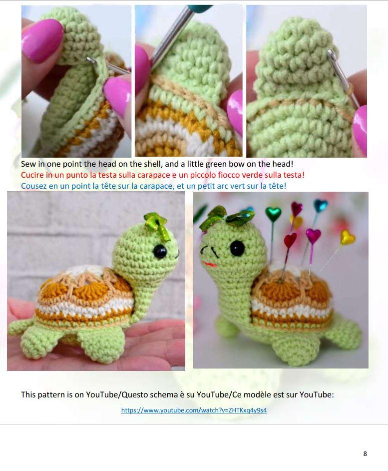 Tecniche amigurumi: la tartaruga uncinetto con schema. | 941x777